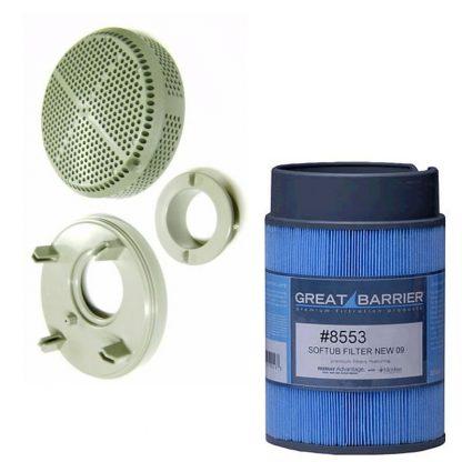 8553 drain cap suction cover retrofit kit with 8553
