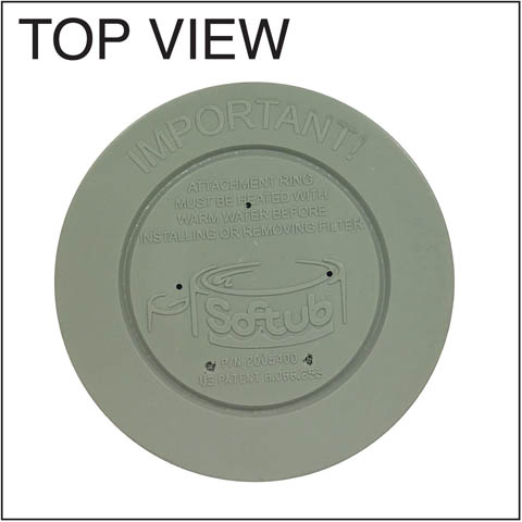 Softub Filter 5015 for June, 2009 Softub Or Older (PN 2005400) Top View